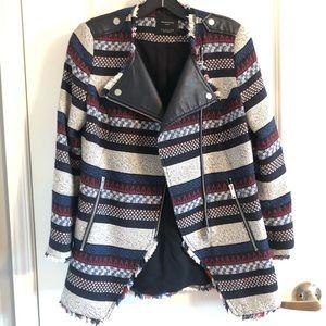 Zara Moto style long blazer jacket